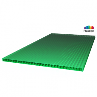 Сотовый поликарбонат ROYALPLAST зелёный 2100х6000х10мм