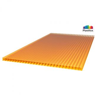 Сотовый поликарбонат ROYALPLAST оранжевый 2100х12000х6мм