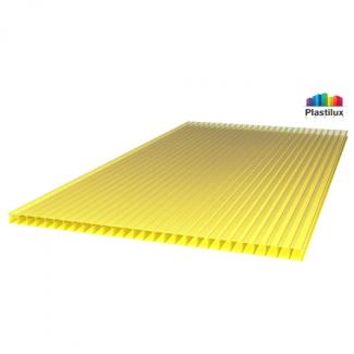 Сотовый поликарбонат ROYALPLAST жёлтый 2100х6000х8мм
