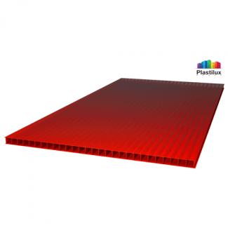 Сотовый поликарбонат SUNNEX красный 2100х12000х4мм