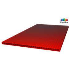 Сотовый поликарбонат ULTRAMARIN красный 2100х12000х10мм