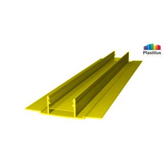 Поликарбонатный профиль ROYALPLAST HCP-D база жёлтый 4-10мм 6000мм