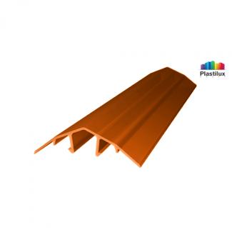 Профиль для поликарбоната ROYALPLAST HCP-U крышка янтарь 4-10мм 6000мм
