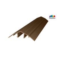 Поликарбонатный профиль ROYALPLAST HCP-U крышка бронза-серая 4-10мм 6000мм