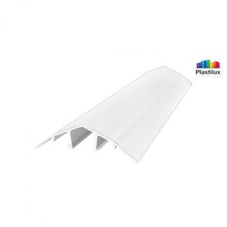 Поликарбонатный профиль ROYALPLAST HCP-U крышка белый-матовый 4-10мм 6000мм