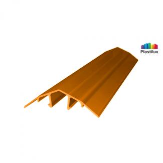 Профиль для поликарбоната ROYALPLAST HCP-U крышка оранжевый 4-10мм 6000мм