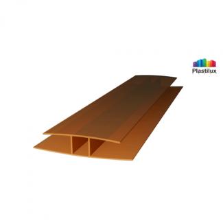 Поликарбонатный профиль ROYALPLAST HP соединительный бронза 16мм 6000мм