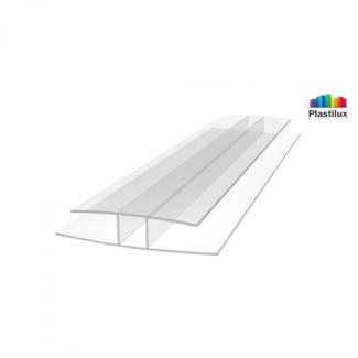 Профиль для поликарбоната ROYALPLAST HP соединительный прозрачный 8мм 6000мм