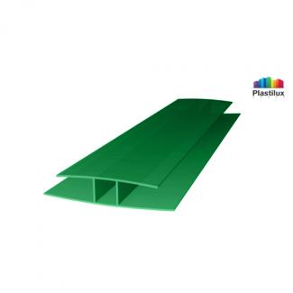 Поликарбонатный профиль ROYALPLAST HP соединительный зелёный 4мм 6000мм