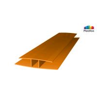 Поликарбонатный профиль ROYALPLAST HP соединительный оранжевый 8мм 6000мм