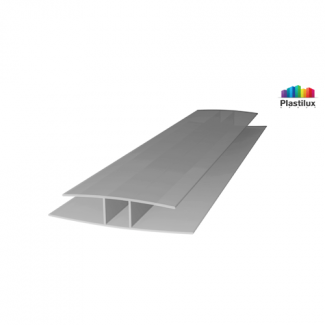 Поликарбонатный профиль ROYALPLAST HP соединительный серебро 10мм 6000мм