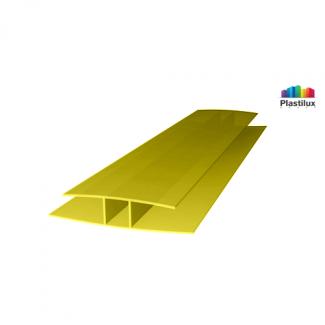 Поликарбонатный профиль ROYALPLAST HP соединительный жёлтый 6мм 6000мм