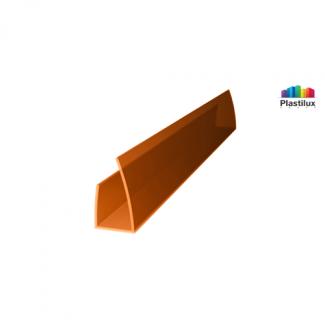 Поликарбонатный профиль ROYALPLAST UP торцовый янтарь 4мм 2100мм