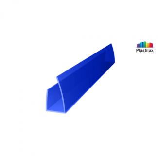 Поликарбонатный профиль ROYALPLAST UP торцовый синий 10мм 2100мм