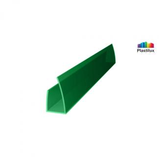 Поликарбонатный профиль ROYALPLAST UP торцовый зелёный 10мм 2100мм