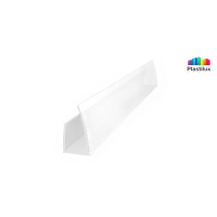 Профиль для поликарбоната ROYALPLAST UP торцевой белый-матовый 4мм 2100мм