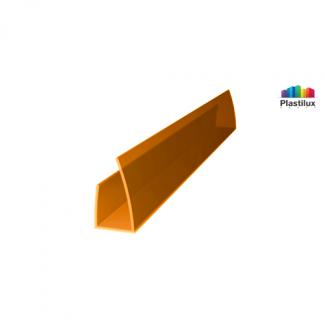 Профиль для поликарбоната ROYALPLAST UP торцевой оранжевый 8мм 2100мм