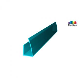 Профиль для поликарбоната ROYALPLAST UP торцевой бирюза 8мм 2100мм