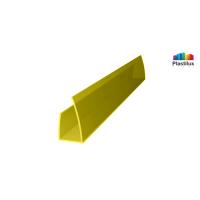 Профиль для поликарбоната ROYALPLAST UP торцевой жёлтый 10мм 2100мм